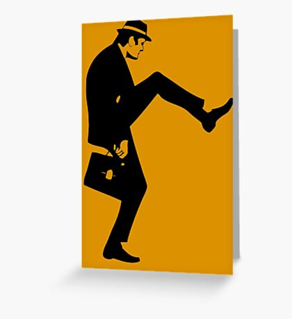 Silly Walk T-Shirt Monty Python Inspired, funny,Small to 2XL different colours Greeting Card