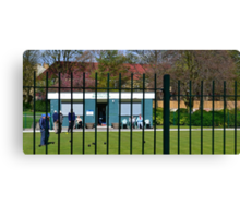 Crown Green Bowling On A Sunny Afternoon Canvas Print