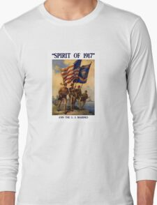 Join The US Marines -- Spirit Of 1917 Long Sleeve T-Shirt