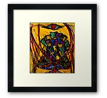 YIntrallion the encounterring (cup in the storm of the vortex of concept) Framed Print