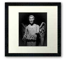 Doctor Who - Don't blink, whatever you do, don't blink Framed Print