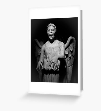 Doctor Who - Don't blink, whatever you do, don't blink Greeting Card