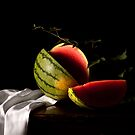 Watermelon Still Life by Rachel Slepekis