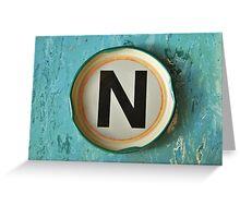 """N"" Greeting Card"