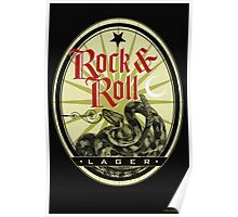 Rock and Roll Snake Lager Label Poster