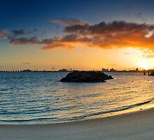 Matakana ferry ramp dawn by Ken Wright