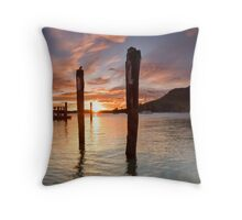 Salisbury Wharf Peach Dusk Throw Pillow
