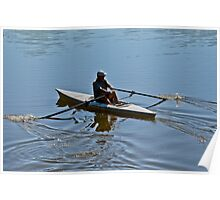 Early Morning Rower Poster