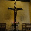 Crucifix in ancient church - Vence, France by tracyannjones