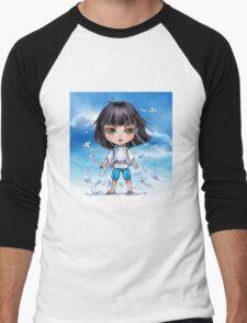 Haku from Spirited Away - chibi 1 Men's Baseball ¾ T-Shirt