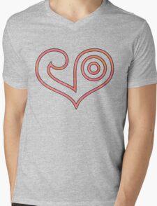 Digimon - Crest of Love Mens V-Neck T-Shirt