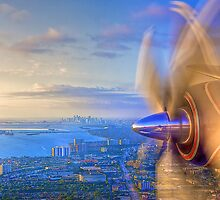 Over Miami by njordphoto