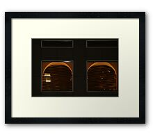 Mirrored At Night Framed Print