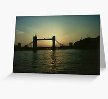 """Tower Bridge Over River Thames"" Greeting Card"