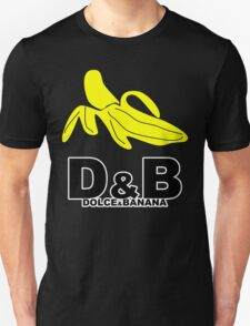 Funny Mens T-Shirt Dolce & banana' Short Sleeve Tee - 100% Cotton, Graphic Tee Unisex T-Shirt