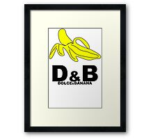 Funny Mens T-Shirt Dolce & banana' Short Sleeve Tee - 100% Cotton, Graphic Tee Framed Print