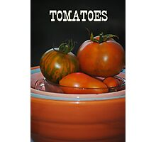 Home Grown Tomatoes Photographic Print