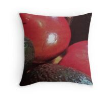 Avo's and Poms Throw Pillow