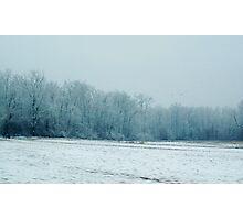 Snow field Photographic Print