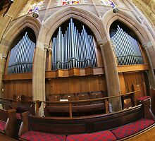 Organ of St.David's Cathedral , Hobart by Ron Co