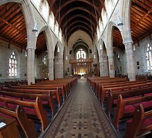 inside St David's Cathedral -8mm lens by Ron Co