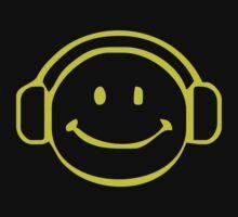 SMILEY DJ Techno,Club,dance,music,rave retro Kids Clothes