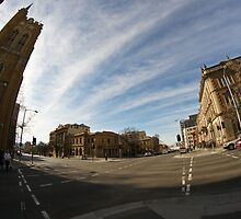MacQuarie Street near St David's Cathedral by Ron Co