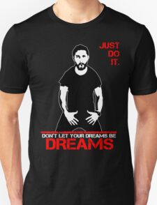 Shia Lebeouf Motivation Black T-Shirt