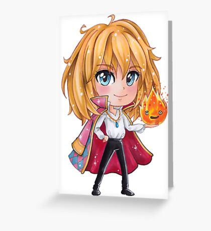 Howl Chibi1 - Howl's Moving Castle Greeting Card