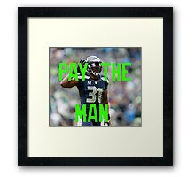 Pay The Man - Kam Chancellor Framed Print