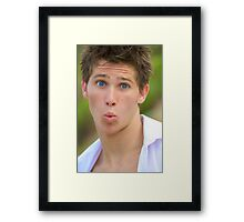 silly pose Framed Print