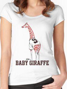 Baby Giraffe Belt Women's Fitted Scoop T-Shirt