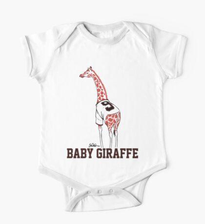 Baby Giraffe Belt One Piece - Short Sleeve
