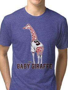 Baby Giraffe Belt Tri-blend T-Shirt