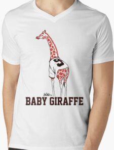 Baby Giraffe Belt Mens V-Neck T-Shirt