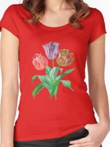 Tulip Trio Tee Women's Fitted Scoop T-Shirt