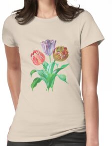 Tulip Trio Tee Womens Fitted T-Shirt