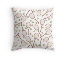 "pattern ""tennis racket with tennis ball"" Throw Pillow"