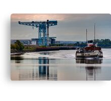 PS Waverley @ Clydebank Titan Canvas Print