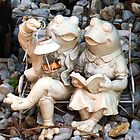 Fred & Freida Frog - relaxing in the garden by EdsMum