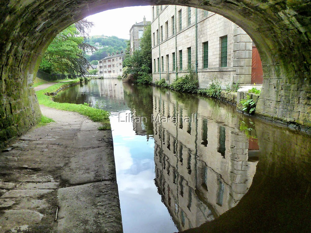 The Through view at Hebden Bridge. by Lilian Marshall