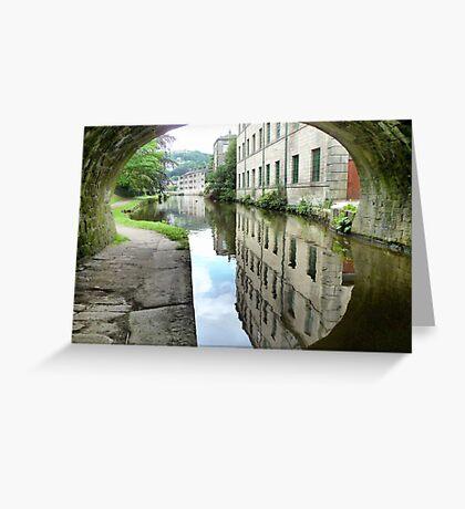 The Through view at Hebden Bridge. Greeting Card