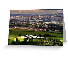 Gilbertfield Castle & Glasgow Greeting Card