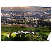 Gilbertfield Castle & Glasgow Poster