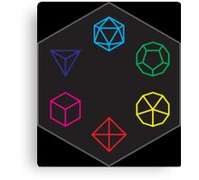 CMYK Rainbow Dice Geometry Canvas Print