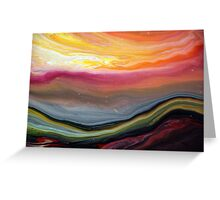 Fluid Landscape Greeting Card