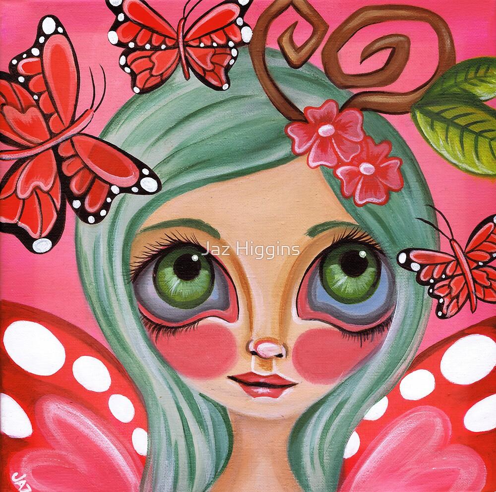 """Red Butterfly Fairy""  by Jaz Higgins"