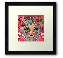 """""""Red Butterfly Fairy""""  Framed Print"""