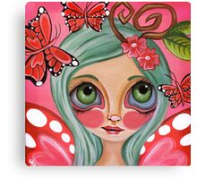 """Red Butterfly Fairy""  Canvas Print"
