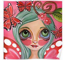 """""""Red Butterfly Fairy""""  Poster"""